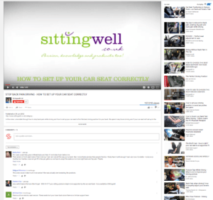 sitting well cushions - on youtube